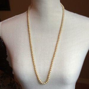 """30"""" Pearl (faux) Necklace Vintage"""
